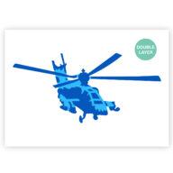 Helicopter stencil, voertuig sjabloon