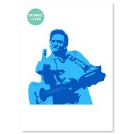 Johnny Cash stencil, idool sjabloon