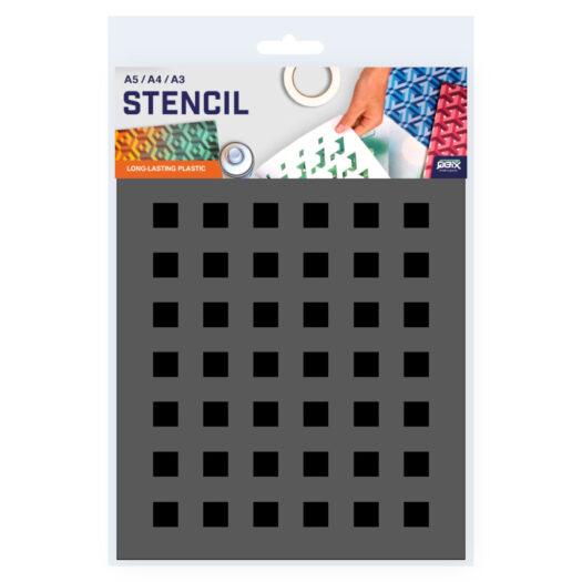 Vierkant patroon sjabloon stencil