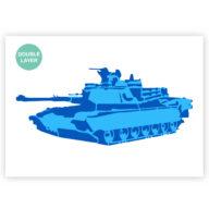 Tank stencil, voertuig sjabloon