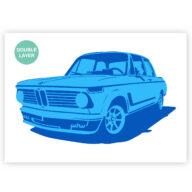 BMW auto stencil, auto sjabloon