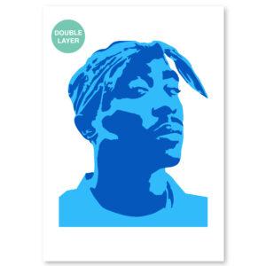 Tupac Shakur stencil, idool sjabloon