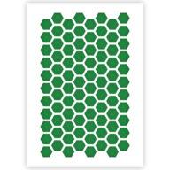 Zeshoek patroon sjabloon stencil