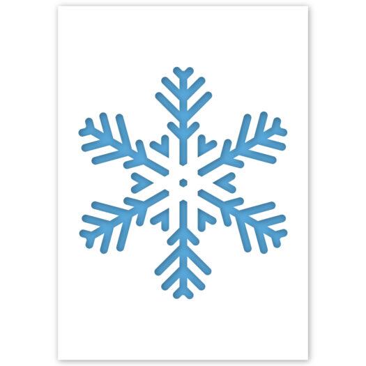 Sneeuwvlok winter sjabloon graffiti stencil