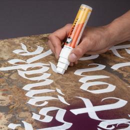 De kalligrafie artiest