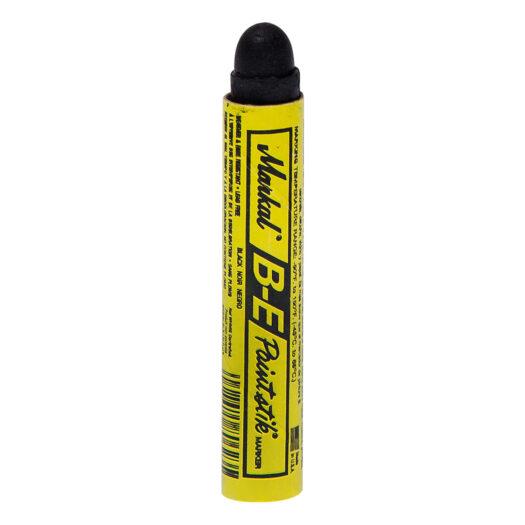 Markal Paintstik B-E met de kleur zwart. Verfstift toepasbaar op diverse ondergronden, zoals hout, staal en beton. Het gemak van een krijt stift. Ideaal voor graffiti art.