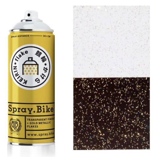 Spray.Bike Keiran spray paint spuitfles goud kleur flake collection 400ml