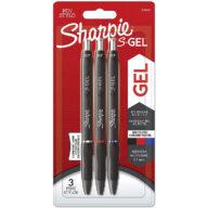 sharpie gel pennen multipack blauw rood en zwart. 0,7mm punt