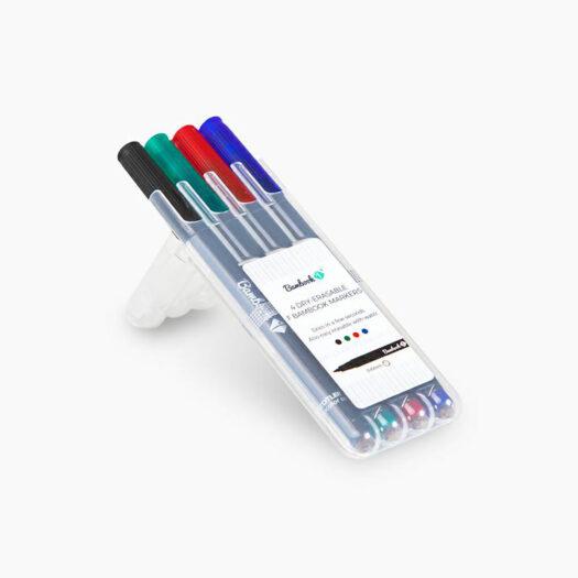 Bambook whiteboard stiftenset s 0,6mm of m 1mm zwart, groen, rood en blauw