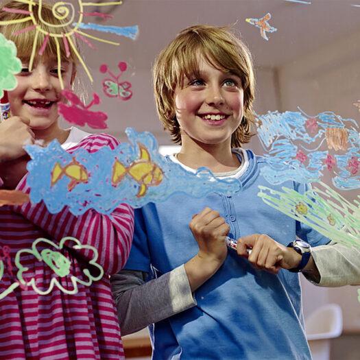 Raamstiften van Edding window fun set van 5 kleuren stiften voor op glas