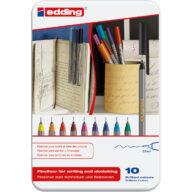 edding 55 fineliner zwart fineliners in metalen doos pen store