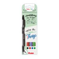 Brush pen Pentel voor kalligrafie bullet journal en brush pen tekening