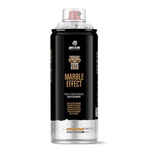 MTN PRO Marble effect spray paint met marmer effect verf white black gold silver