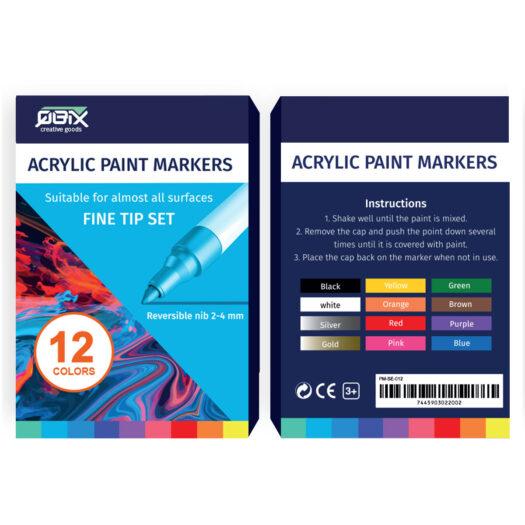 Qbix Acrylic Paint Marker Verfstiften Set