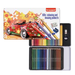 kleurpotloden Bruynzeel potloden kopen. Kleurpotloden set in blik van 60 stuks